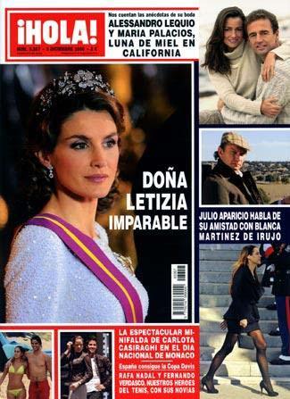 Letizia en la portada de la revista Hola